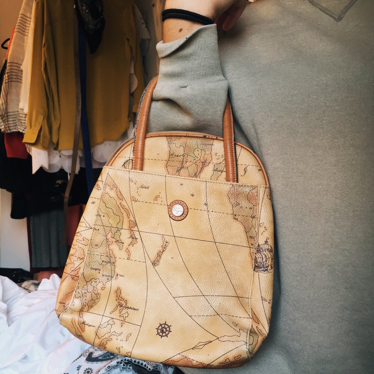 Beautiful Vintage Map Purse This Purse Was Love At First Is Depop