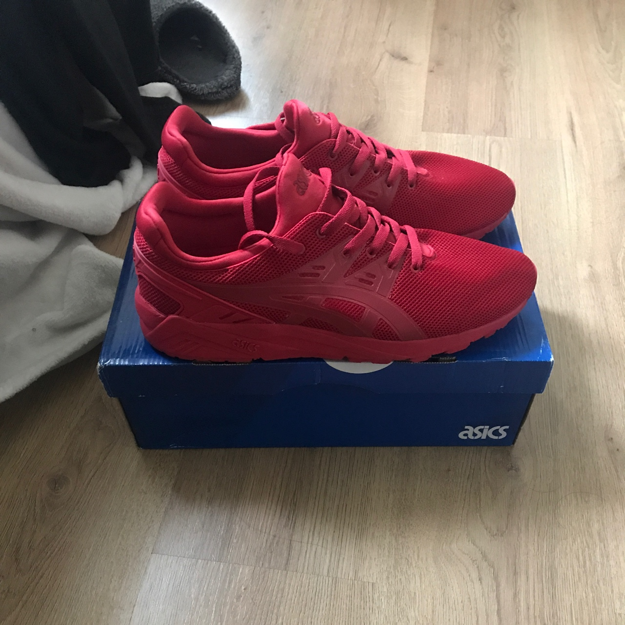new style f6b89 acfea Asics Gel-Kayano Trainer Evo Red Brand new with tags... - Depop