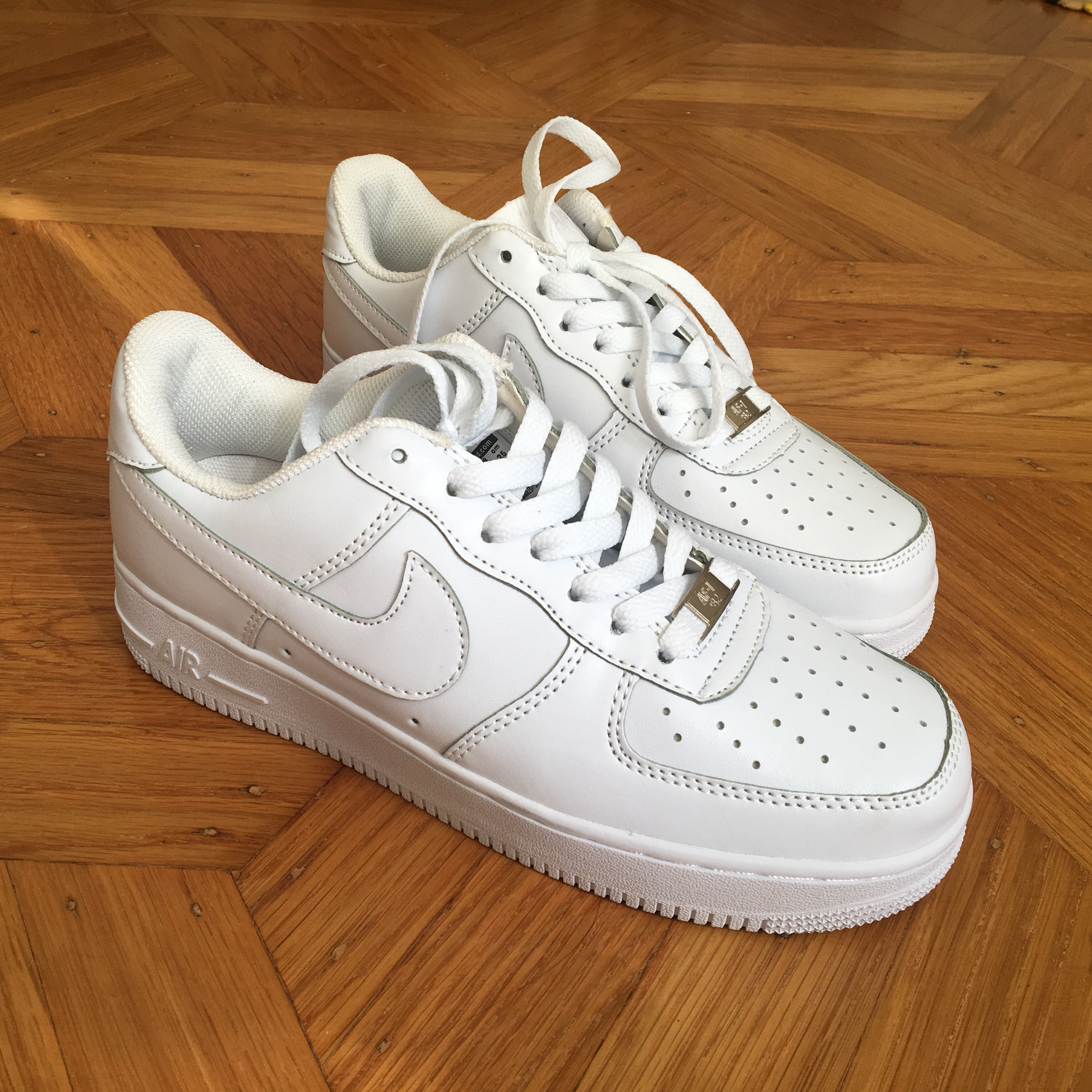 new style 68fdd 3354a nike low top air force ones '82. selling these for... - Depop