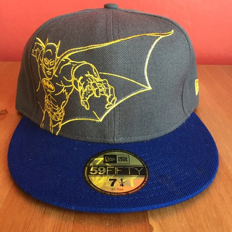 25e6efd3 @crazyclearout. 2 years ago. London, UK. Blue, grey and yellow batman new  era hat ...