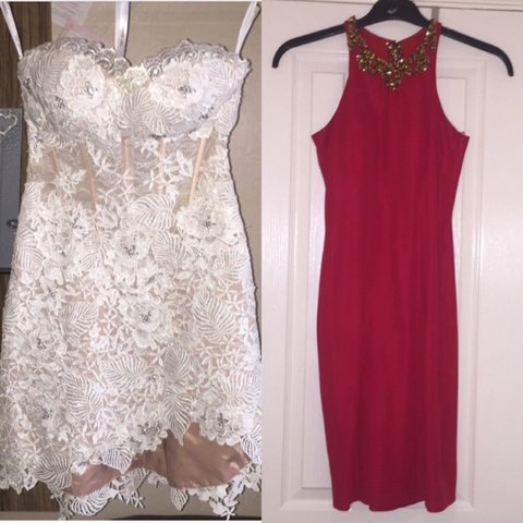 d812075cc7 MAKE ME OFFERS!! on these 2 lovely dress. White lace sweet   - Depop