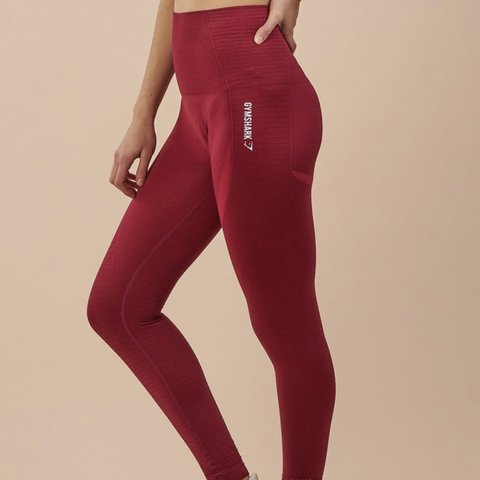 3ded7f67feced @oana97. last year. Bury St Edmunds, United Kingdom. CURRENTLY OUT OF STOCK  AND WONT BE RESTOCKED ‼ GYMSHARK HIGH WAISTED SEAMLESS LEGGINGS RED/ BEET  MARL