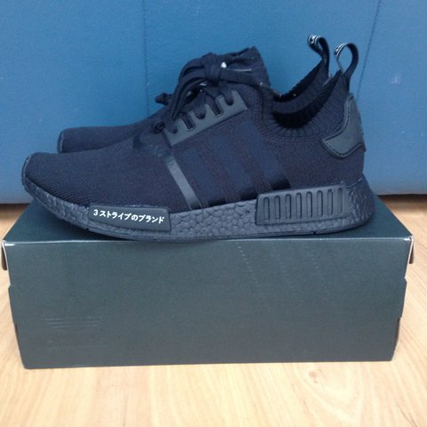 f5d05e8d8a973 Adidas NMD R1 PK Primeknit Japan Triple Black. Brand new in - Depop