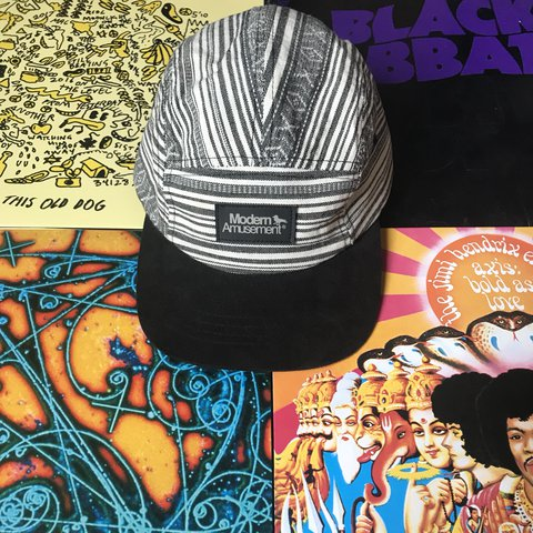 9a9d0053aabf6 Modern Amusement box logo 5-panel Stripe game insane. With - Depop