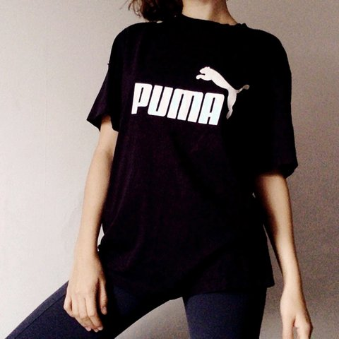 c56029e26f Comfy vintage Puma Tshirt   Tee   Top. Navy blue with white - Depop