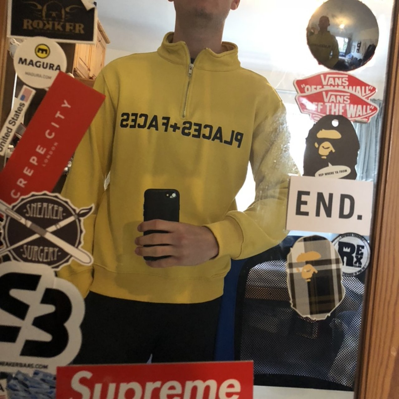 063ae8ee Very rare and hard to find yellow places plus faces p+f zip - Depop