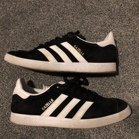 5c92a5ae0 Adidas Gazelle s in suede black. Size 7. Used but great No - Depop