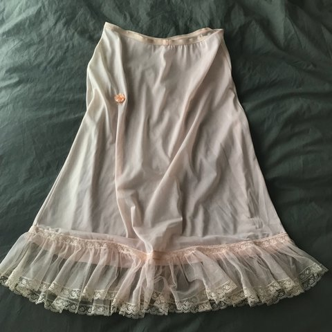 91eb0bea93 Beautiful mid century 1950 s or 60 s Victorian slip skirt is - Depop