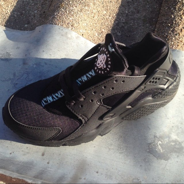 5fd30501f008 ... switzerland nike air huarache triple black zebra custom hand painted  average time is 1 2weeks for