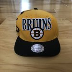 11b256f3 Yellow Boston Bruins hat Mitchell and Ness Worn once. - Depop