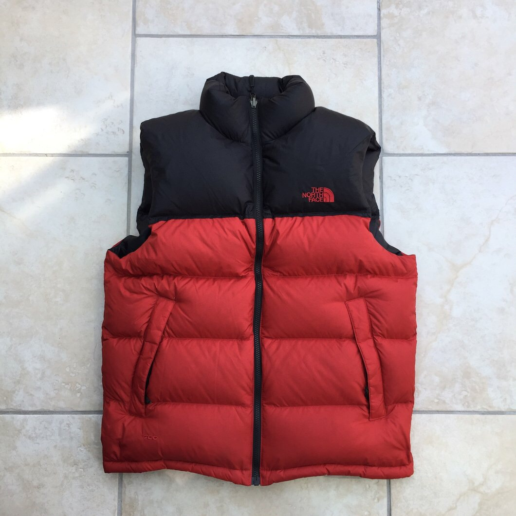 b2e83cfeb The North Face Red and black 700 puffer vest jacket,... - Depop