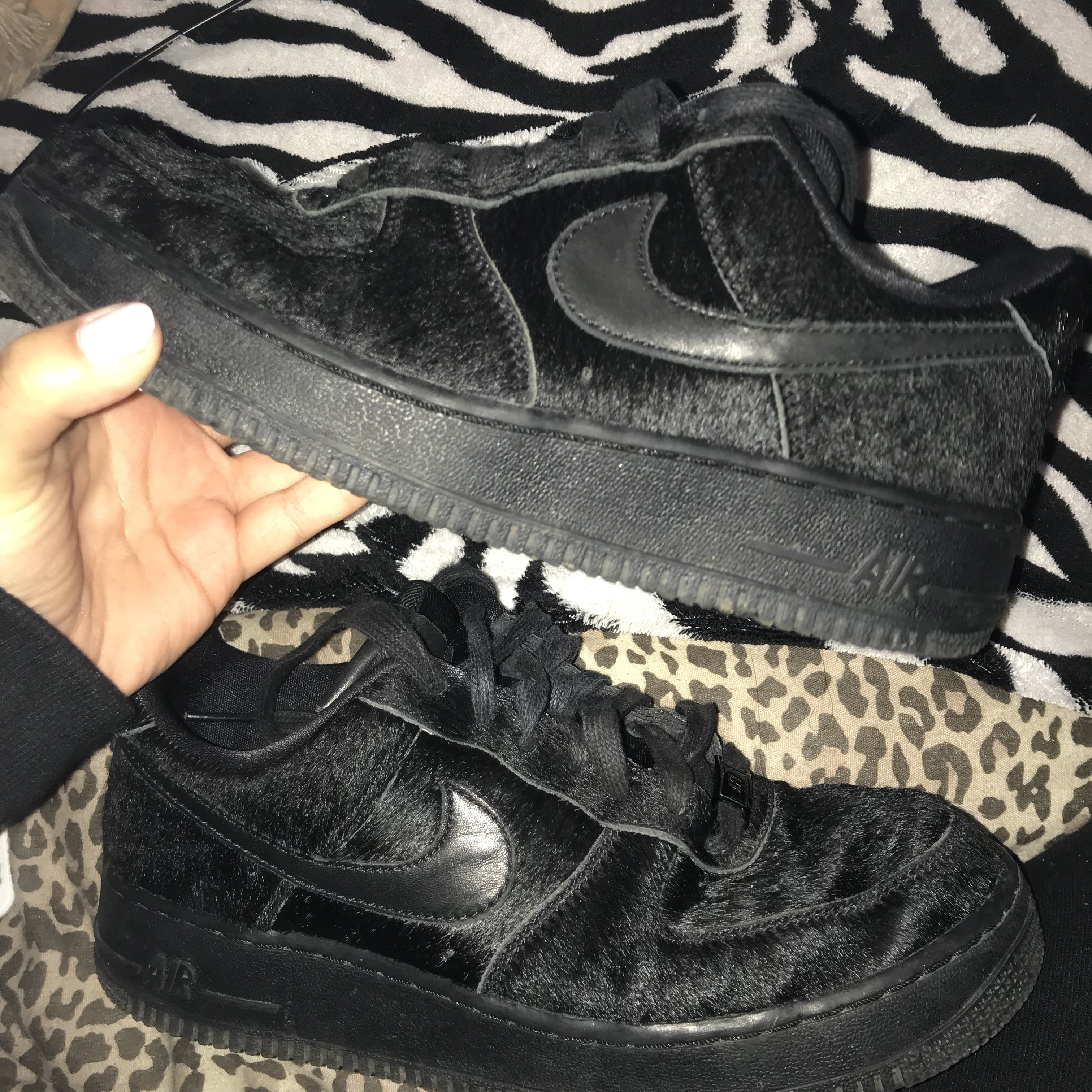 huge selection of c99ff bbf41  cirannelouise. last year. Cheltenham, United Kingdom. Nike Air Force 1  07  Premium Black Pony hair