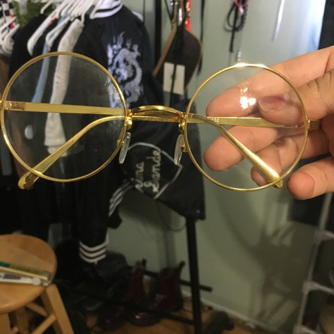 8bd4f10747b0a Cute round gold glasses. Harry Potter style glasses! No New! - Depop