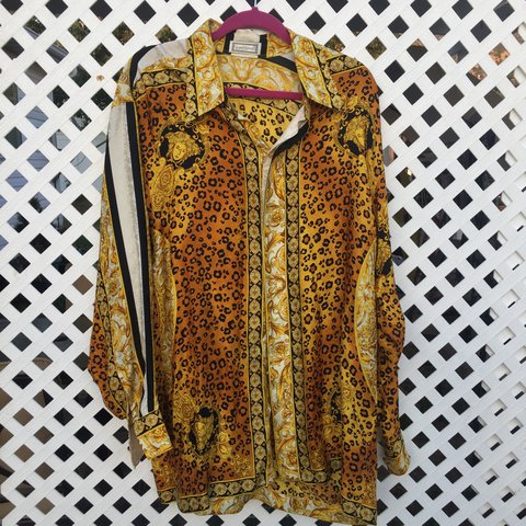 59d90013 @belindaa123. 2 years ago. Santaquin, United States. Gianni Versace silk  shirt #vintage ...