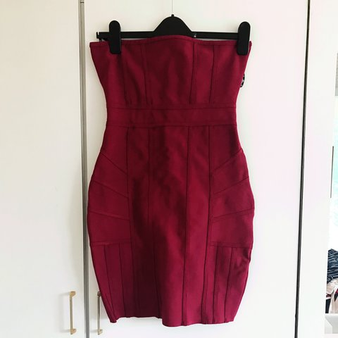 65e7c1cb34bb Missguided bodycon bandage dress in a red raspberry colour. - Depop
