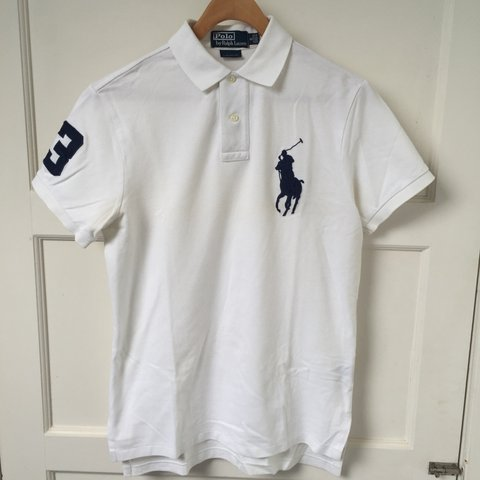 cf3a5023 @swisely. 3 years ago. Aberdeen, UK. Ralph Lauren Polo Shirt | White | Size  Small Custom Fit ...