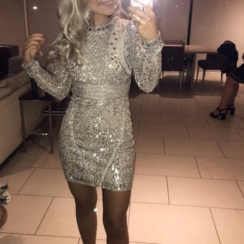 ccaa466d7d0d4 @chloeamy. last year. Dudley, United Kingdom. Missguided X Carli Bybel  collection backless sequin embellished dress.
