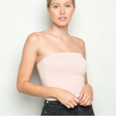 1d916453d12 brandy melville blush pink jenny tube top. brand new with I - Depop