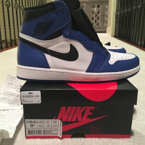 344d64fb5dce9a Nike Air Jordan 1 Game Royal Size 9.5 100% authentic and box - Depop