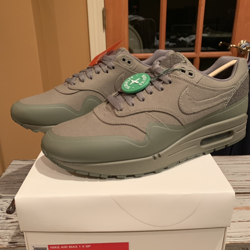 Nike Air Max 1 V SP Patch Steel Green Size: Depop