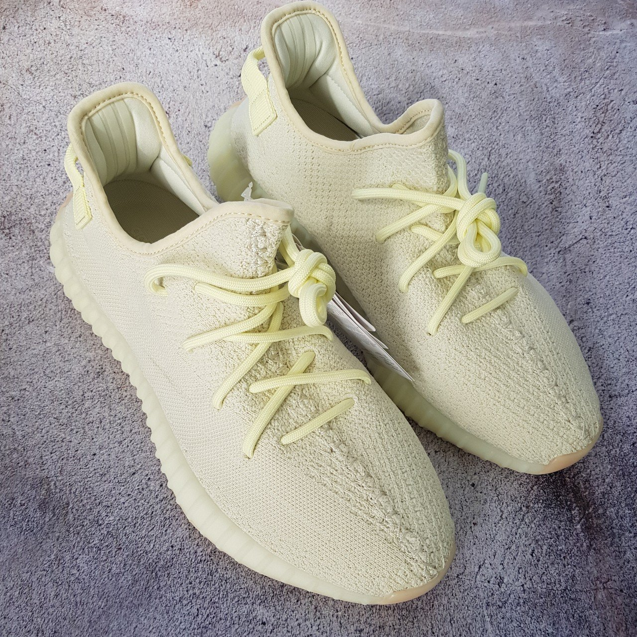 Yeezy boost 350 V2 Butter UK Size 9.5 Adidas yeezy 100% and - Depop c6832bef75