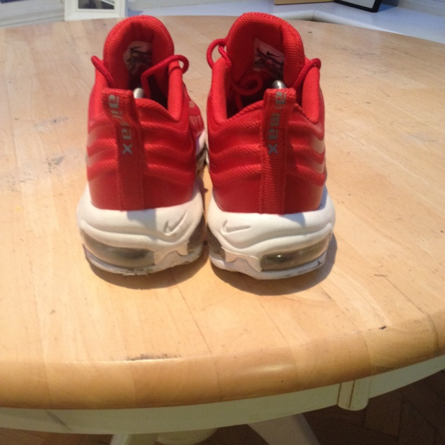 Air max 97 red UK 9 used a couple of times bit to Depop