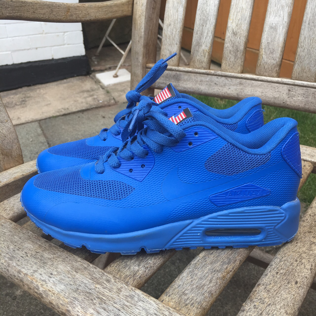 Nike Air Max 90 Hyperfuse Independence Day blue Depop