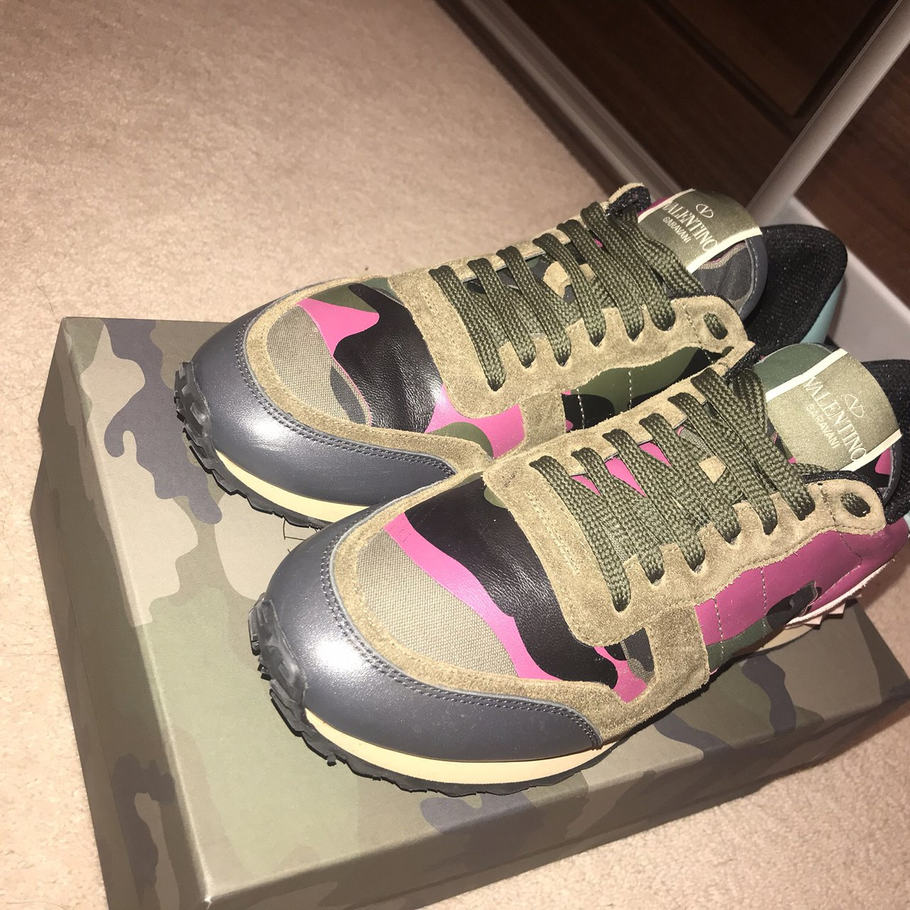 MESSAGE ME OFFERS Genuine Valentino trainers size 5. £500. - Depop 6ecabe3cc2aa