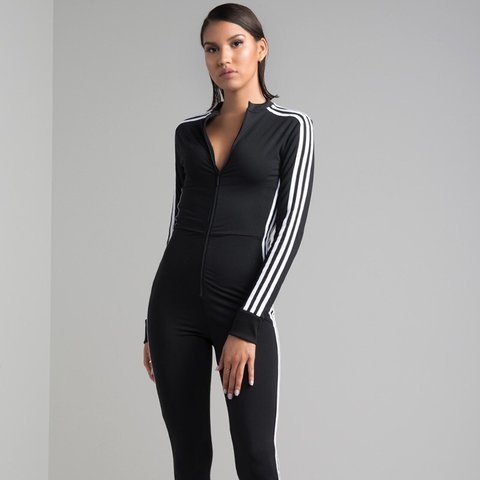 224b0ce82e4b BNWT Adidas Stage Suit   Jumpsuit in size 6. COMPLETELY SOLD - Depop