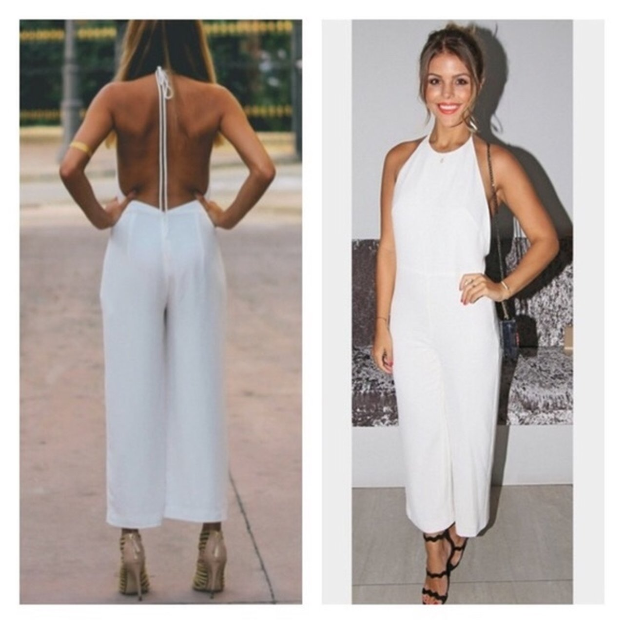 51a1267b589 Zara backless white jumpsuit as seen on Chloe from towie. in - Depop