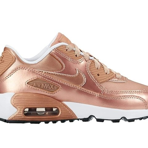 c621c779187755 Rose gold nike Air max 90. Size 5. Only worn once so in  90s - Depop