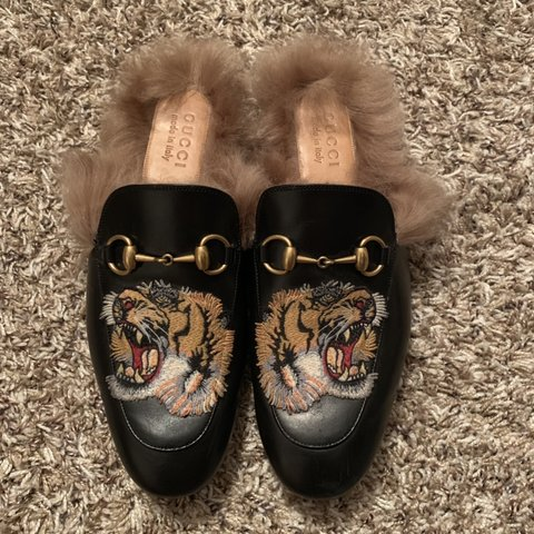 0164dc412c6c Gucci Princetown Slippers with tiger men s size 7 US (6.5 in - Depop