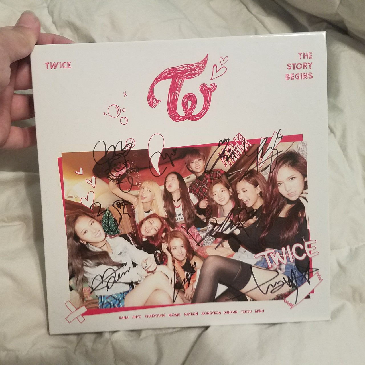 !SIGNED! Twice 'The Story Begins' album signed by    - Depop
