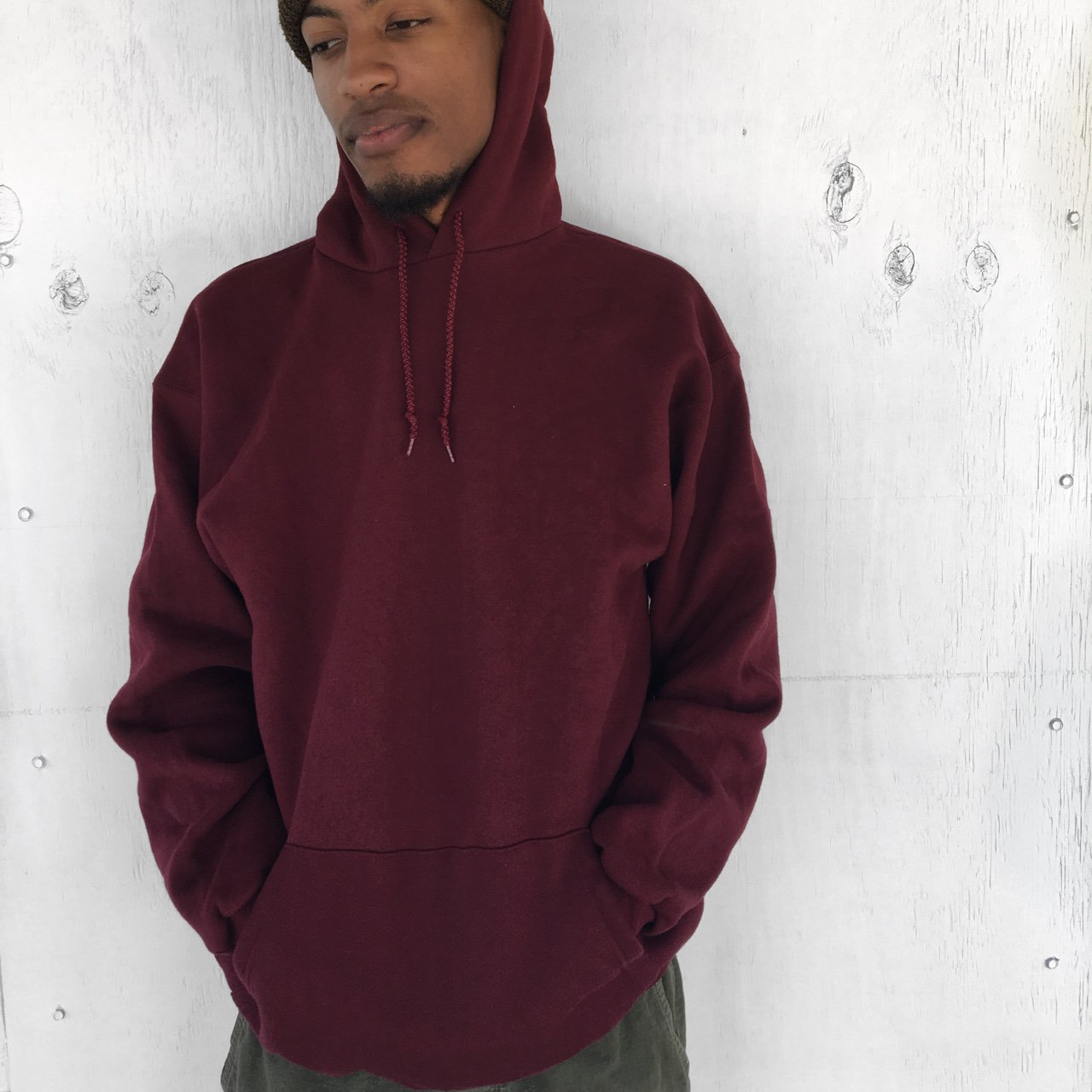 04dc3fab70 Thick Burgundy Hoodie Perfect for the cold weather SALES - Depop