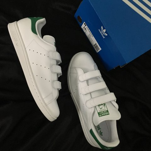 Adidas Originals Stan Smith CF velcro strap men s us sz 10.5 - Depop 18b50a39c