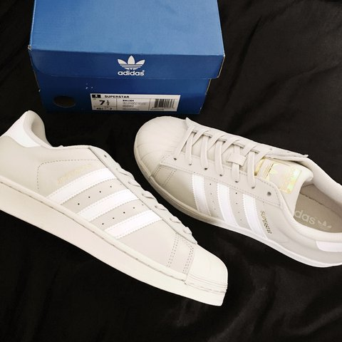 05e859e107cb Nude Talc Tan Beige off white n gold leather Original Adidas - Depop