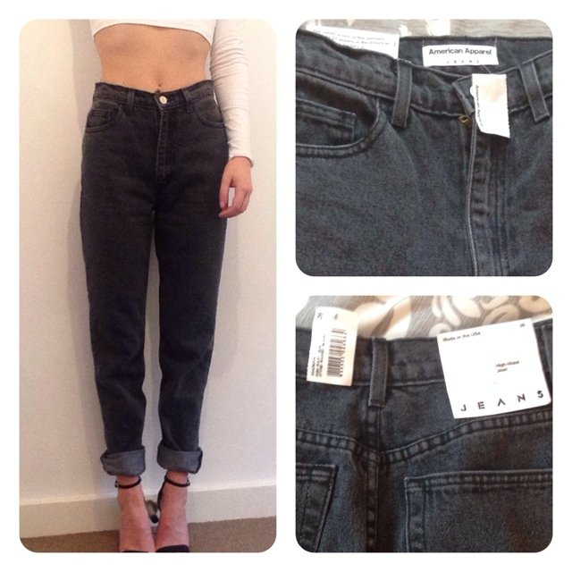 Brand new with tags American Apparel high waist mom jeans. Size 26 ...