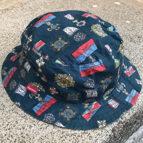 Supreme Bucket Hat Condition  Used Color  Blue Size  One a 7 - Depop a9bfa726b357