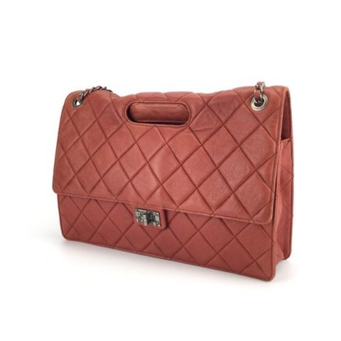 cc1ee8b31625 [CHANEL] Authentic Red Maxi Lambskin Two Way Take Away Flap - Depop