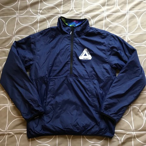 0b012213385b Palace Warper Reversible Fleece Jacket. Navy   Multi size - - Depop