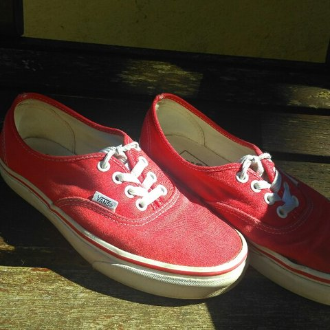 53862ed0a8 Classic red   white Vans. Size  5. Been worn