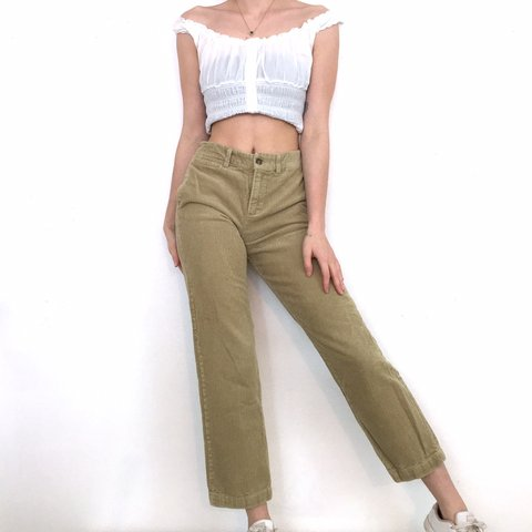 abd7c86e3 Vintage High Waisted Tan Corduroy Pants. They re from Polo - Depop