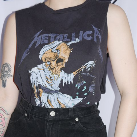 cb9e9c14 @oliviafffaye. last year. Portland, United States. Metallica muscle shirt / great  condition @depop ...