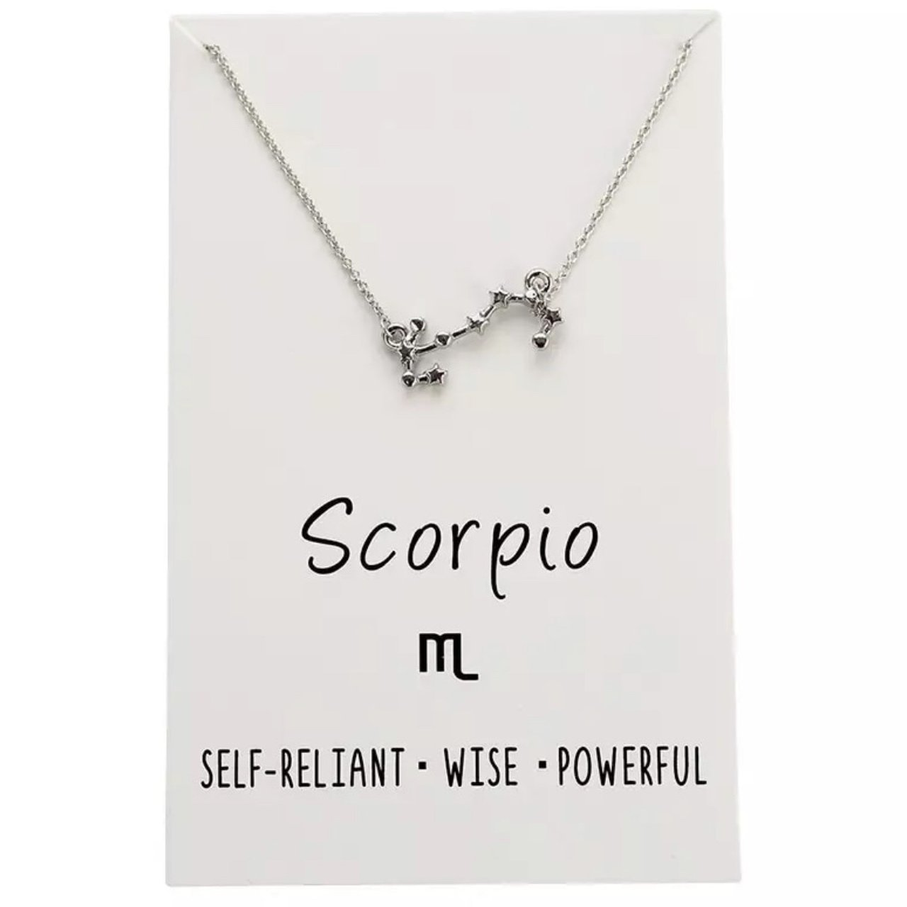 Scorpio Astrology Necklace Nwt Silver On An 18 Chain Depop