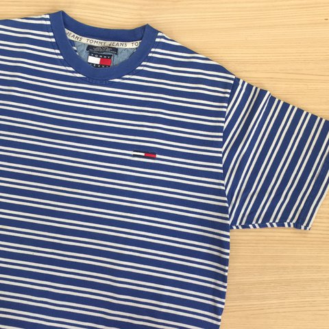 318a1ef73 @wrfr. 2 months ago. California, USA. Vintage Tommy Hilfiger Striped Shirt  ...