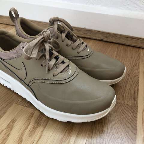 online retailer 67141 155cb ... Nike Air Max Thea Desert Camo Nude. These are a bitch to I - Depop ...
