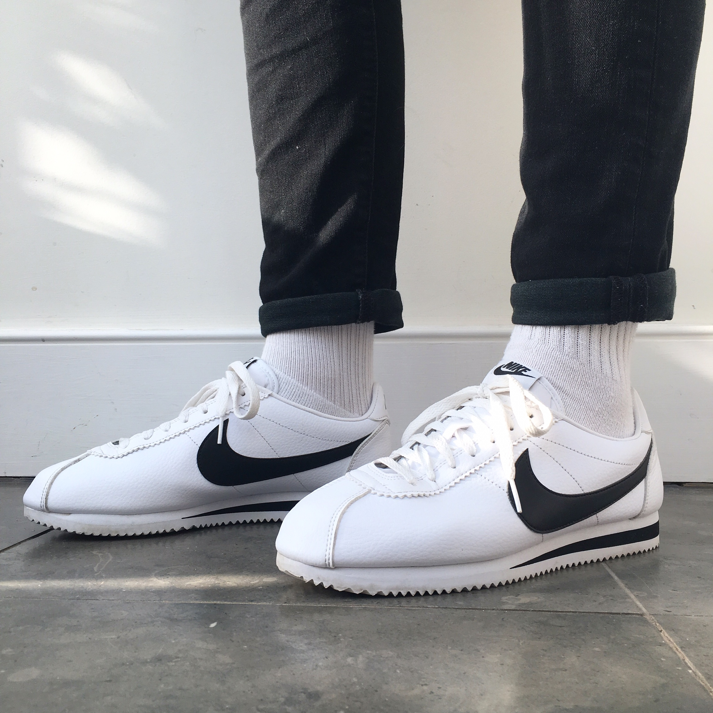 best service dc7d4 f0ca4 NIKE CORTEZ - Leather Trainers - White &... - Depop