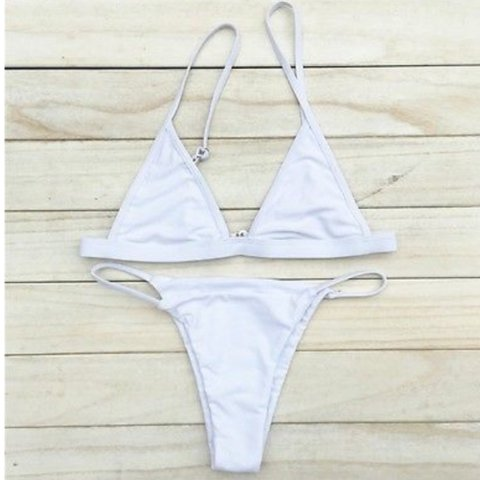 6b012b45da ️BRAND NEW White triangle bikini set