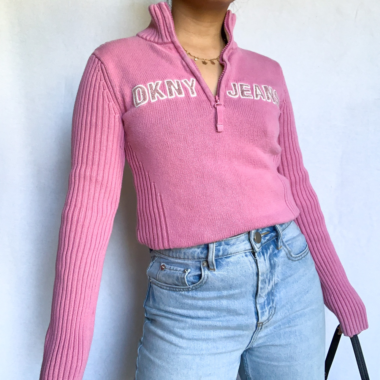 💖PINK DKNY HALF ZIP SWEATER💖
