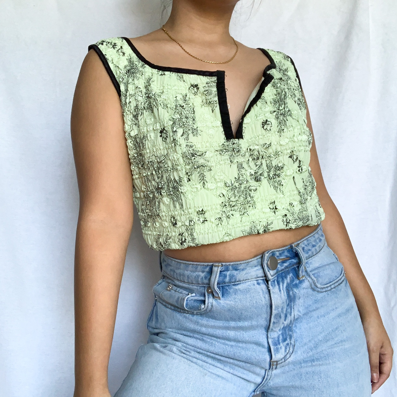 💚GREEN PAISLEY FLORAL TOP💚